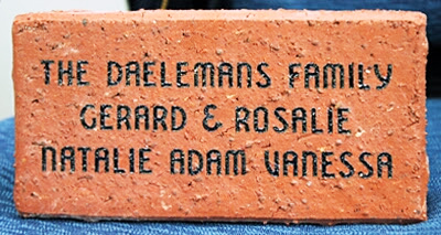 laser engraved brick rustic example